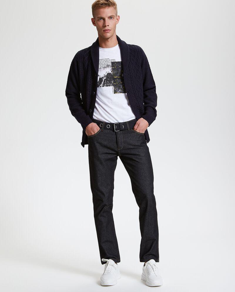 Jeans straight con cintura uomo