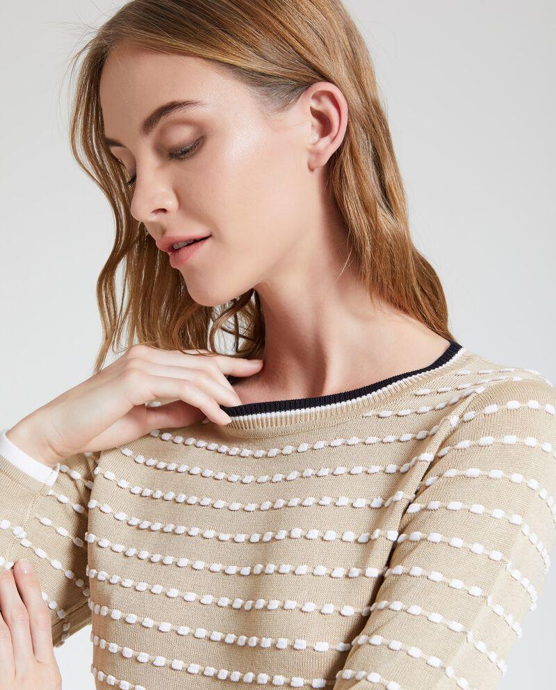 Maglione con applicazioni donna