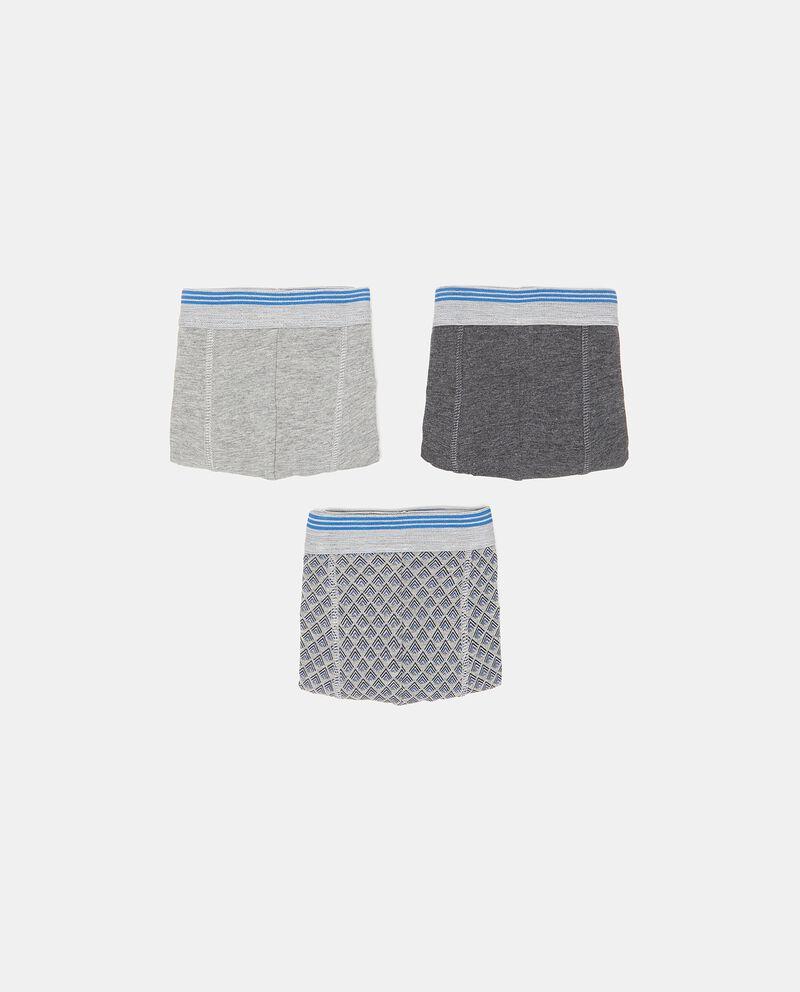 Set con tre boxer in cotone elasticato uomo cover