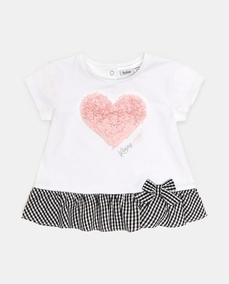 T-shirt in cotone organico con applicazione 3D neonata