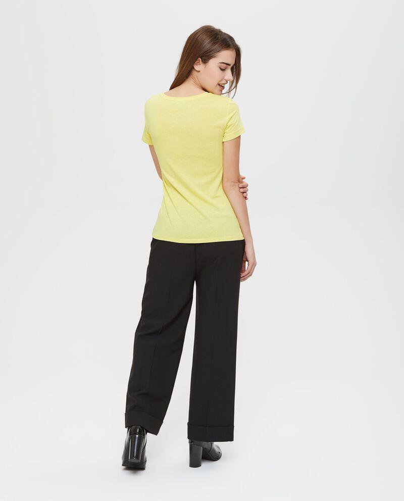 T-shirt cotone e modal con perline