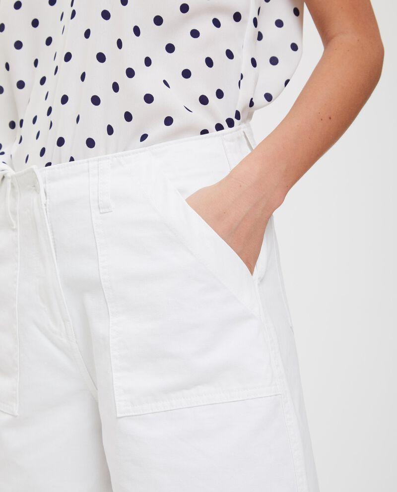 Pantaloni in cotone orlo sfrangiato