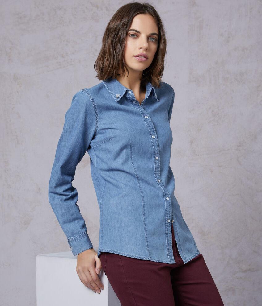 Camicia di jeans con perline