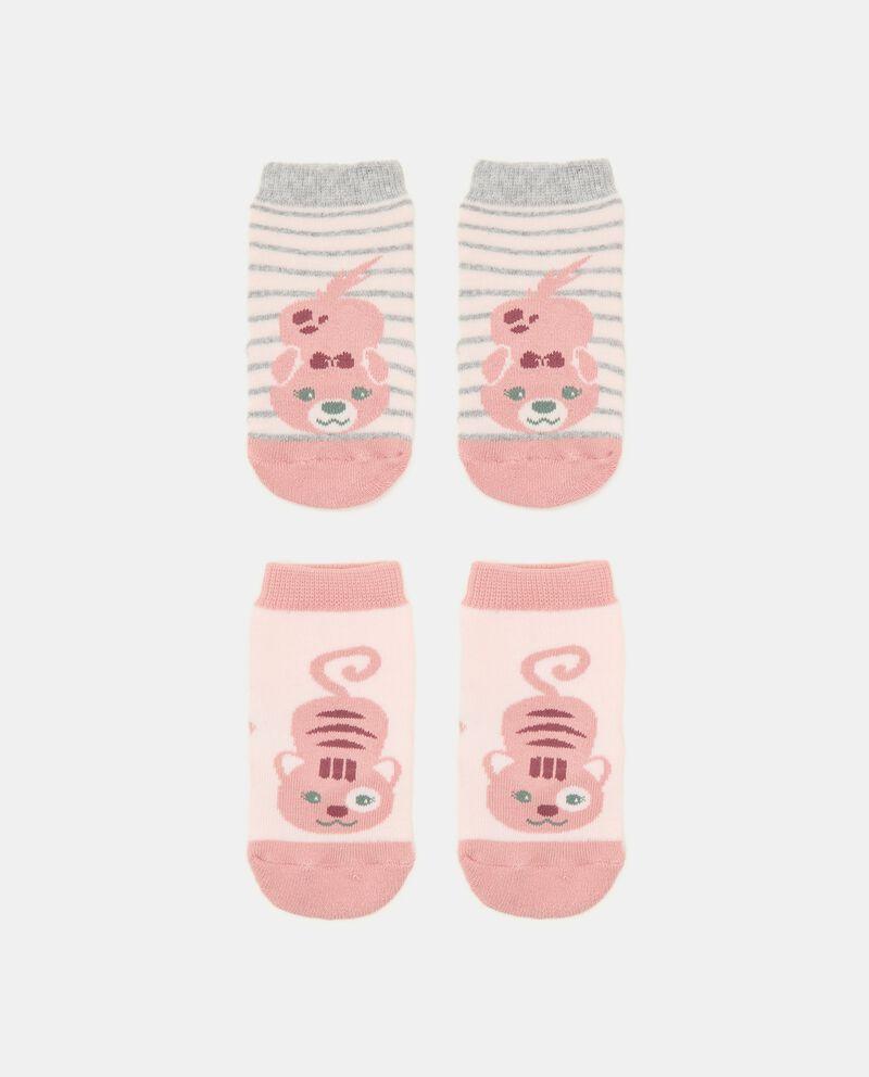 Bipack con 2 paia di calzini di cotone organico neonatadouble bordered 0