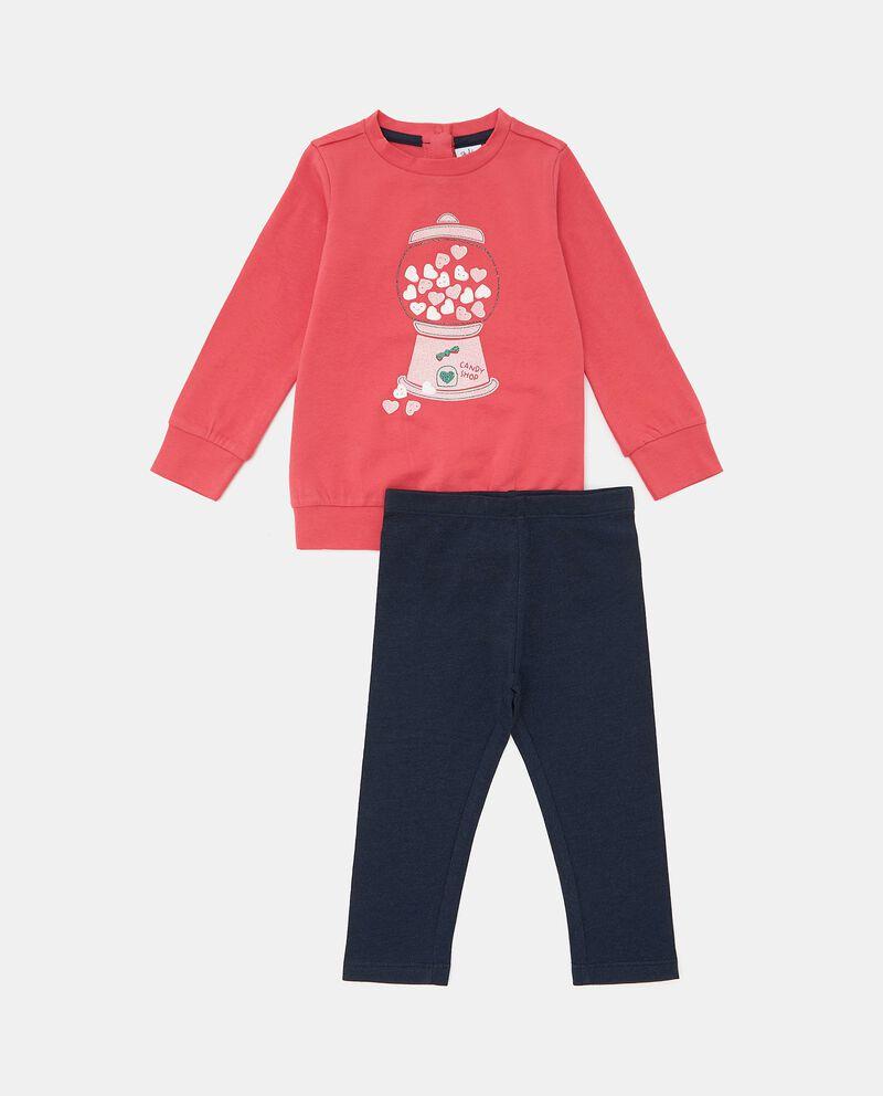 Set con maglia e leggings cotone biologico neonata cover