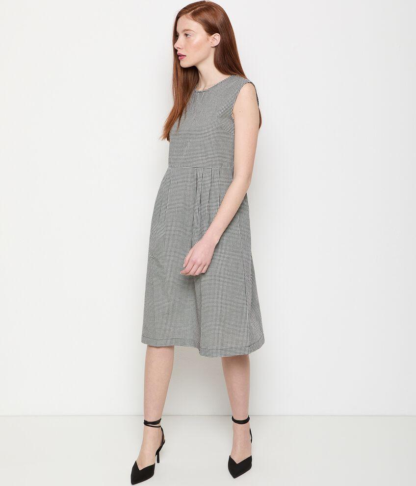 Vestito in puro cotone a quadri donna double 1