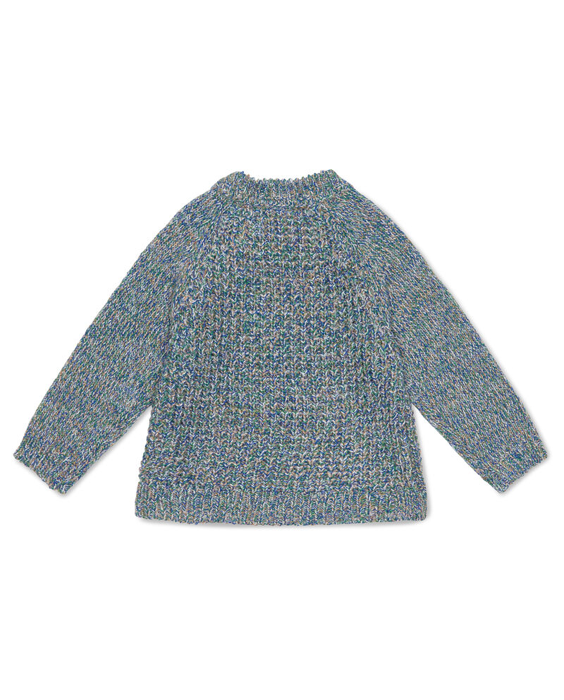 Pullover mélange con patch