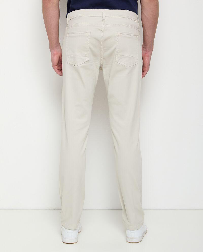 Pantaloni cinque tasche in cotone stretch uomo
