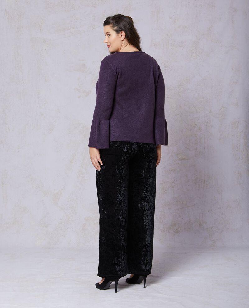 Pullover tricot tinta unita linea comoda