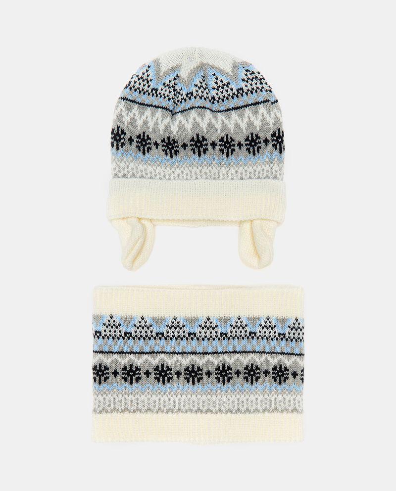 Set composto da berretto e collo in maglia neonatodouble bordered 0