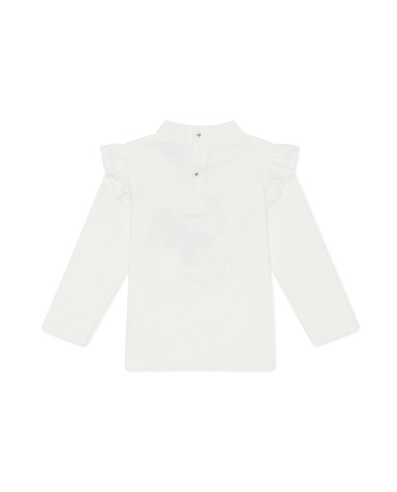 T-shirt collo alto stampa Minù glitterata