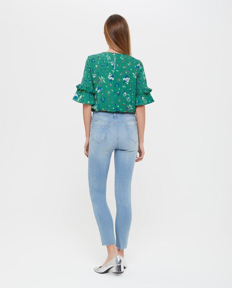 Jeans effetto vintage donna