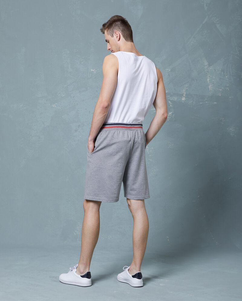 Pantaloncini in cotone tinta unita uomo