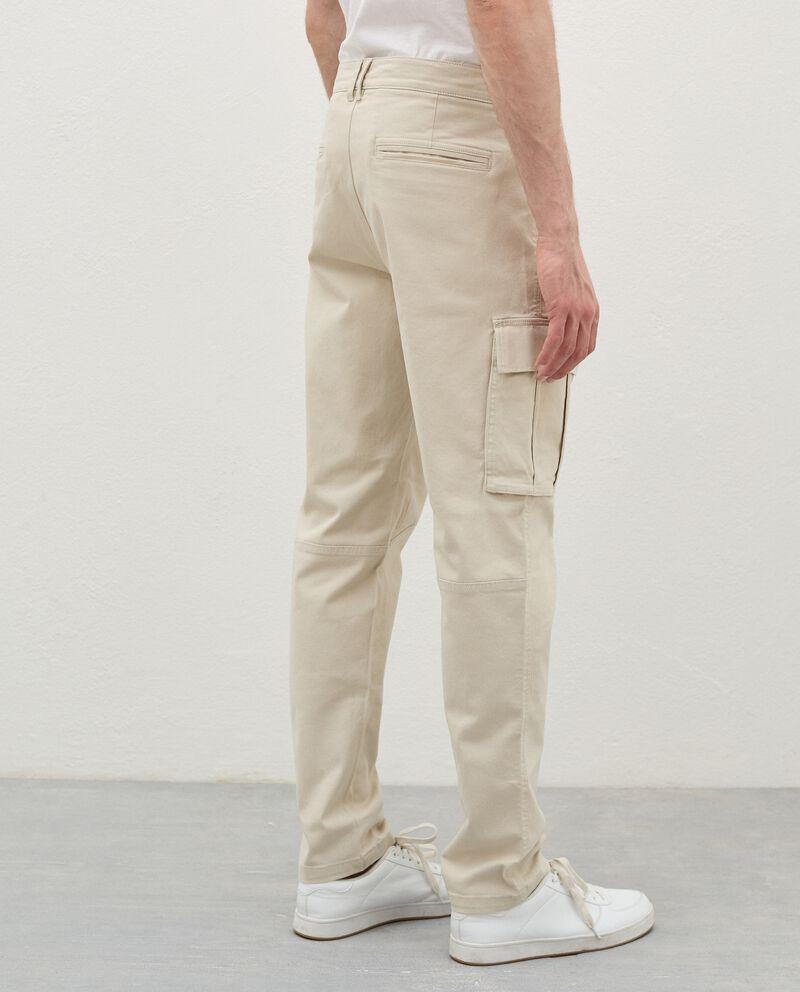 Pantaloni cargo di cotone stretch uomodouble bordered 1