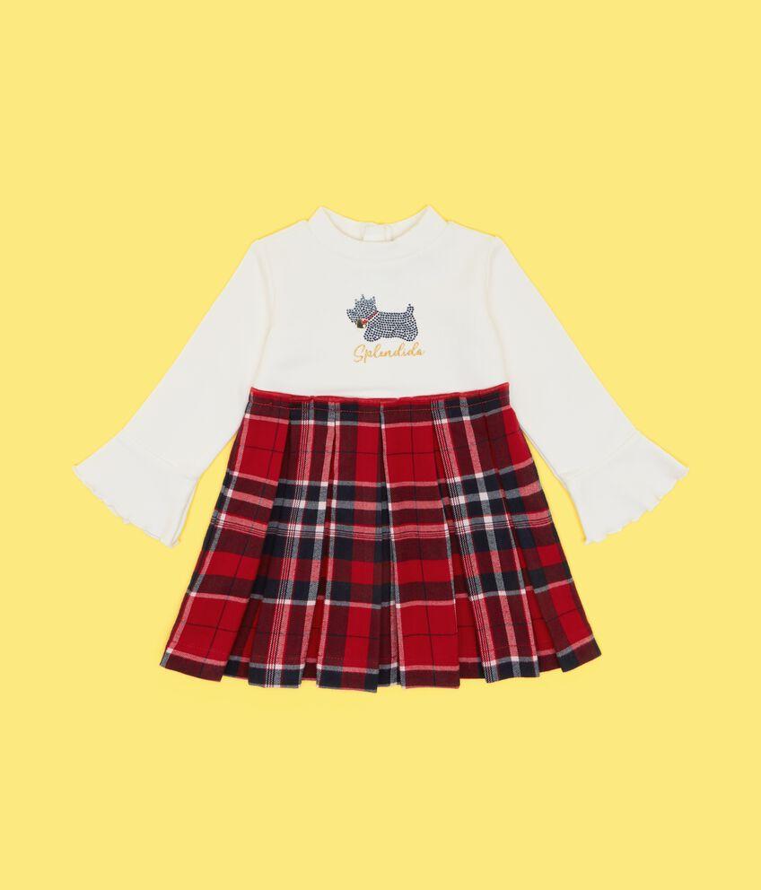 Vestito con gonna svasata neonata