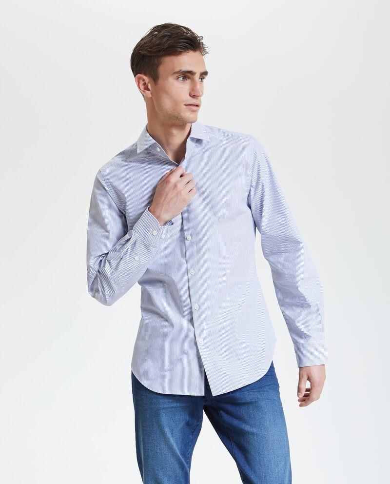 Camicia con motivo a righe uomo