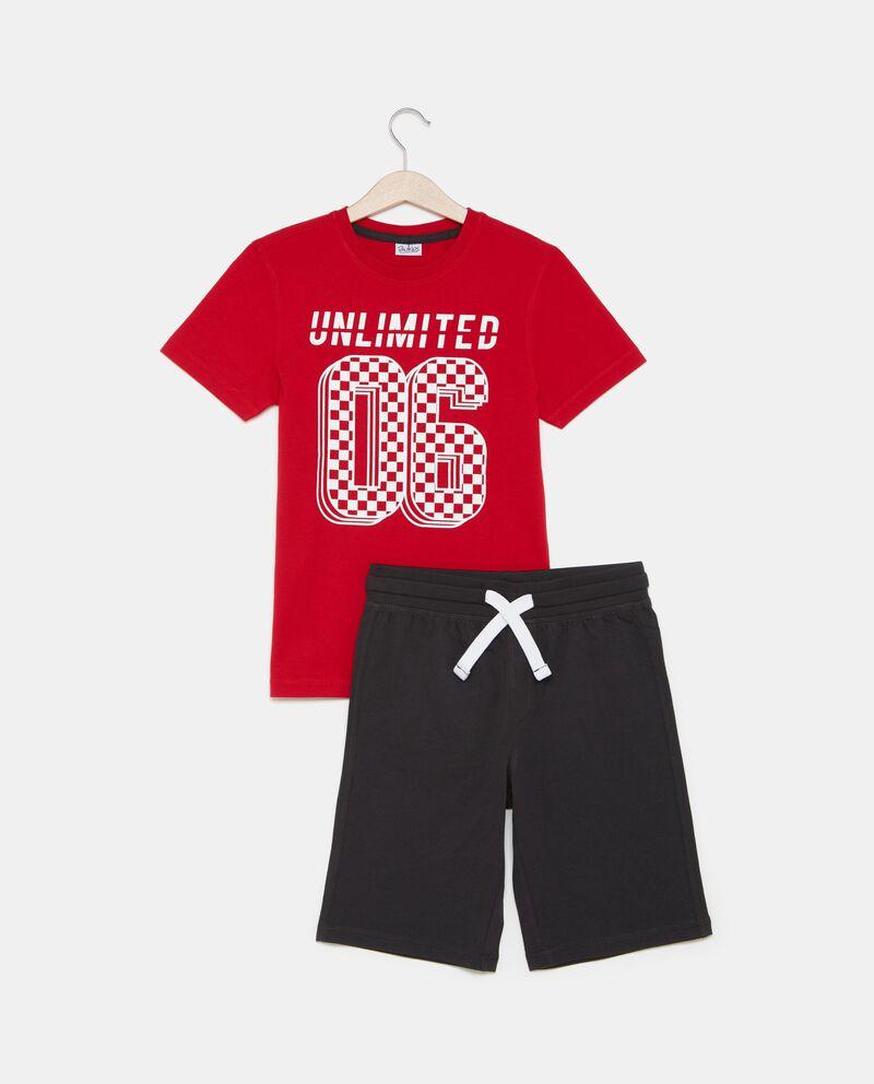 Set t-shirt numero e shorts ragazzo
