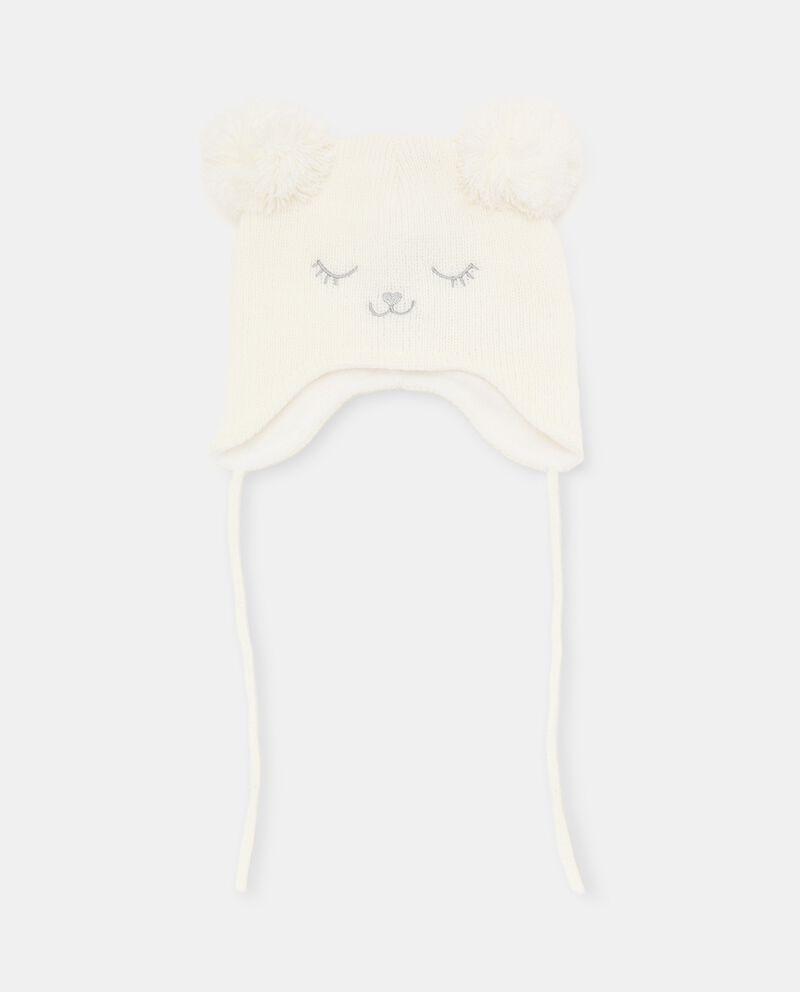 Berretto tricot con pon pon neonata cover