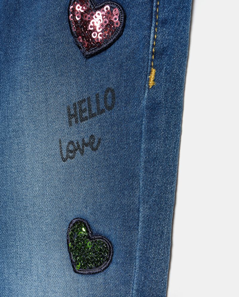 Jeans con cuoricini in paillettes bambinadouble bordered 1