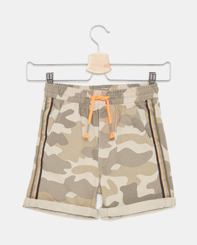 Shorts con fantasia militare e bande laterali bambino
