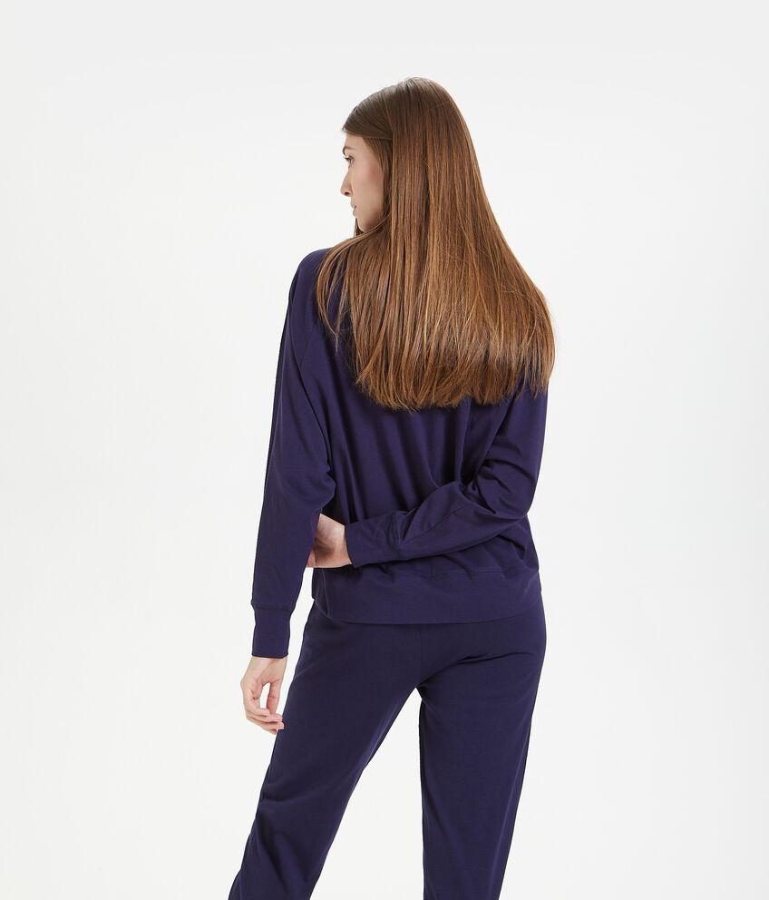 Maglia del pigiama stampata in puro cotone