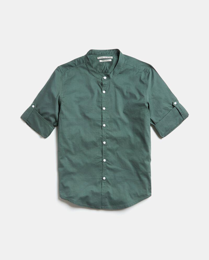Camicia in puro cotone a maniche corte cover