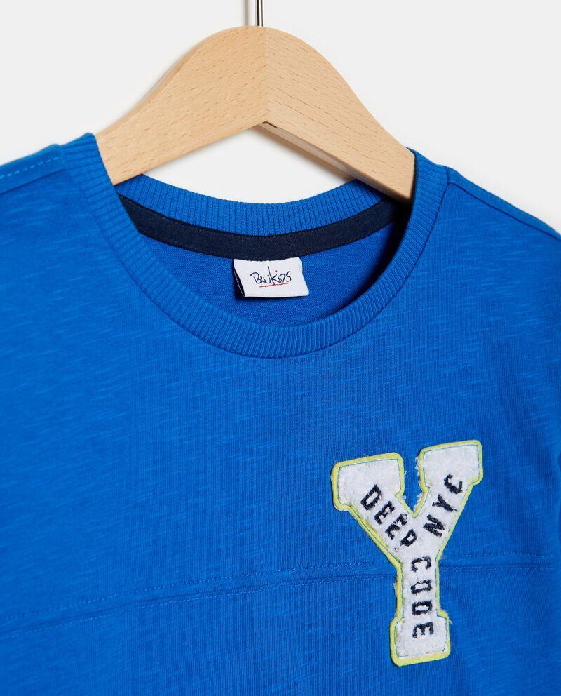 T-shirt maniche lunghe bande e patch