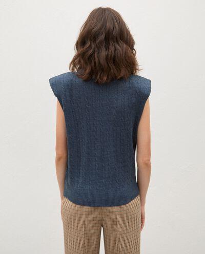 Gilet tricot tinta unita donna detail 1