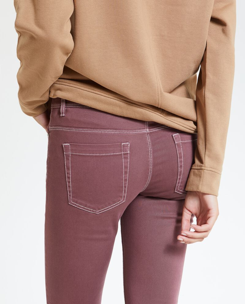 Pantaloni cuciture a vista donna