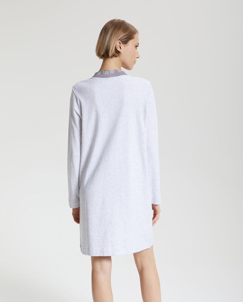 Camicia da notte con profili a quadri donna