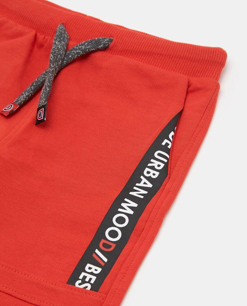 Pantaloni tinta unita in puro cotone biologico neonato