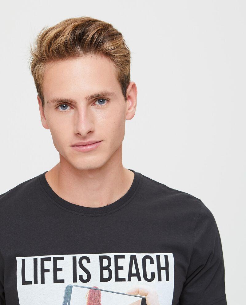 T-shirt puro cotone stampata
