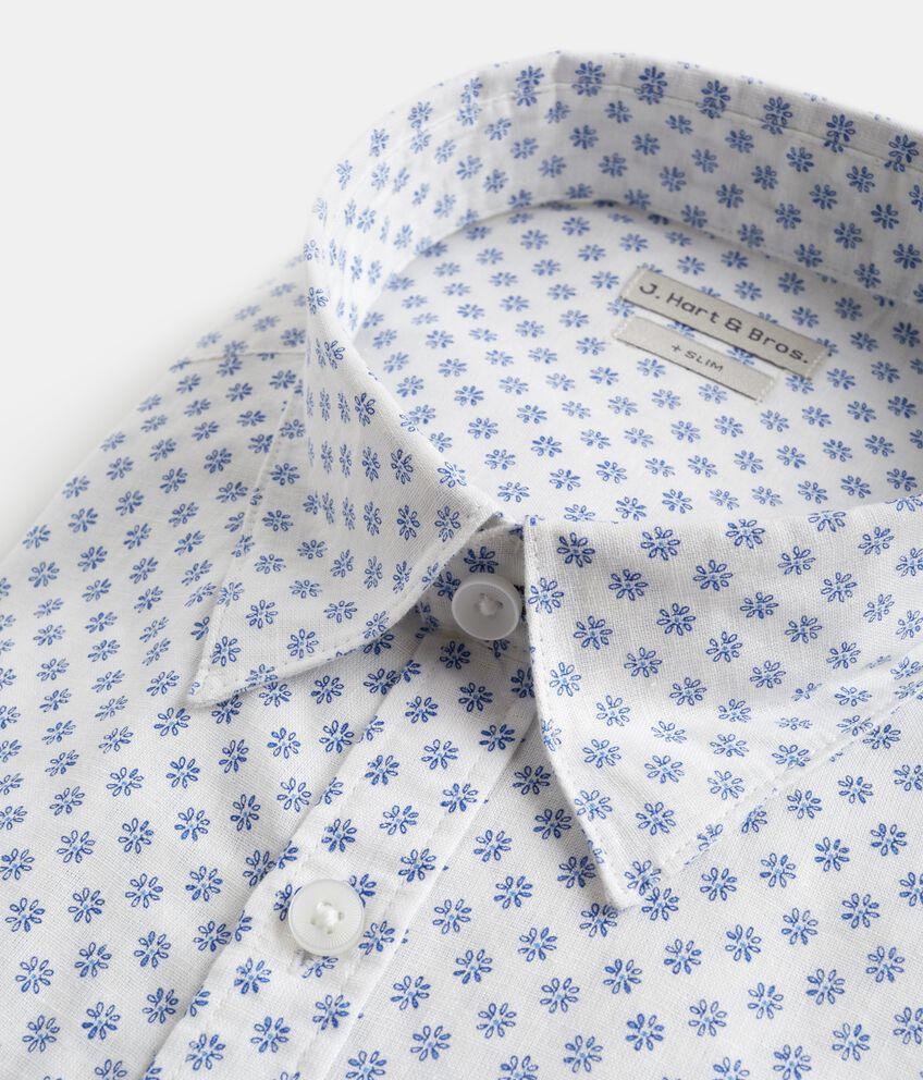 Camicia slim fit in cotone misto lino uomo double 2