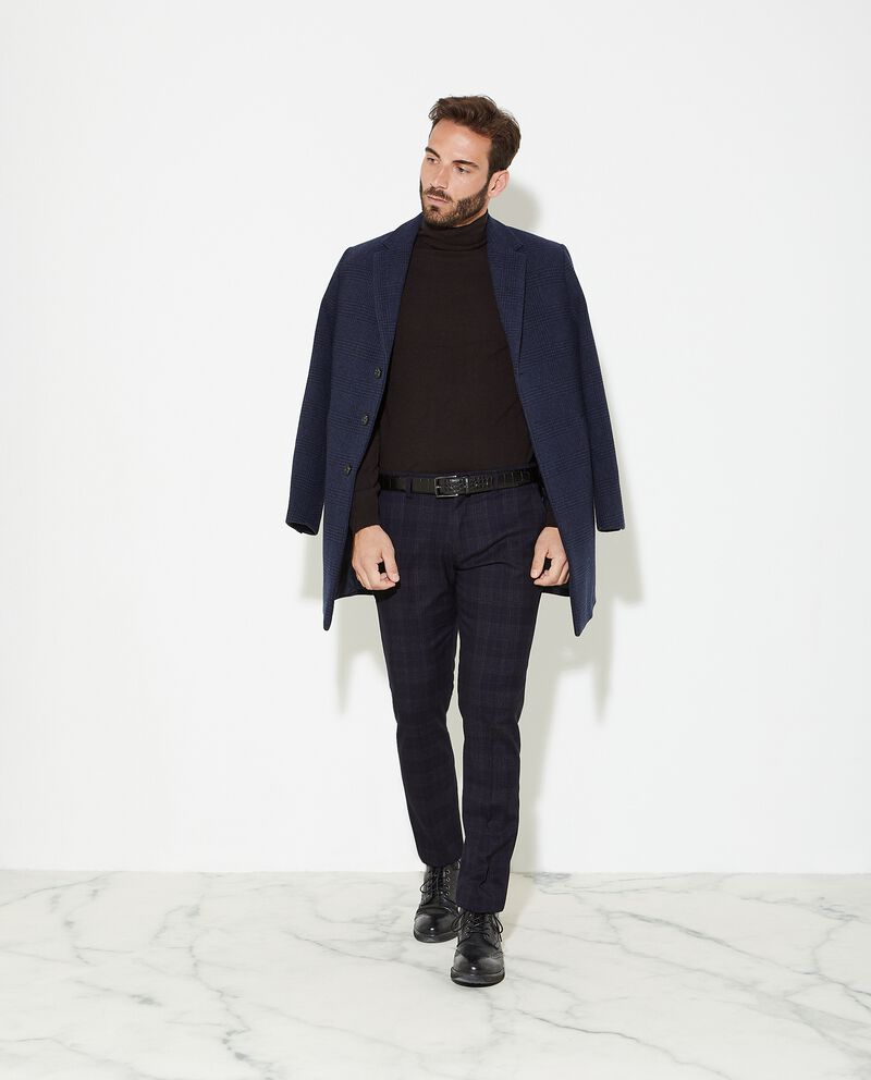 Cappotto con motivo principe di galles uomo