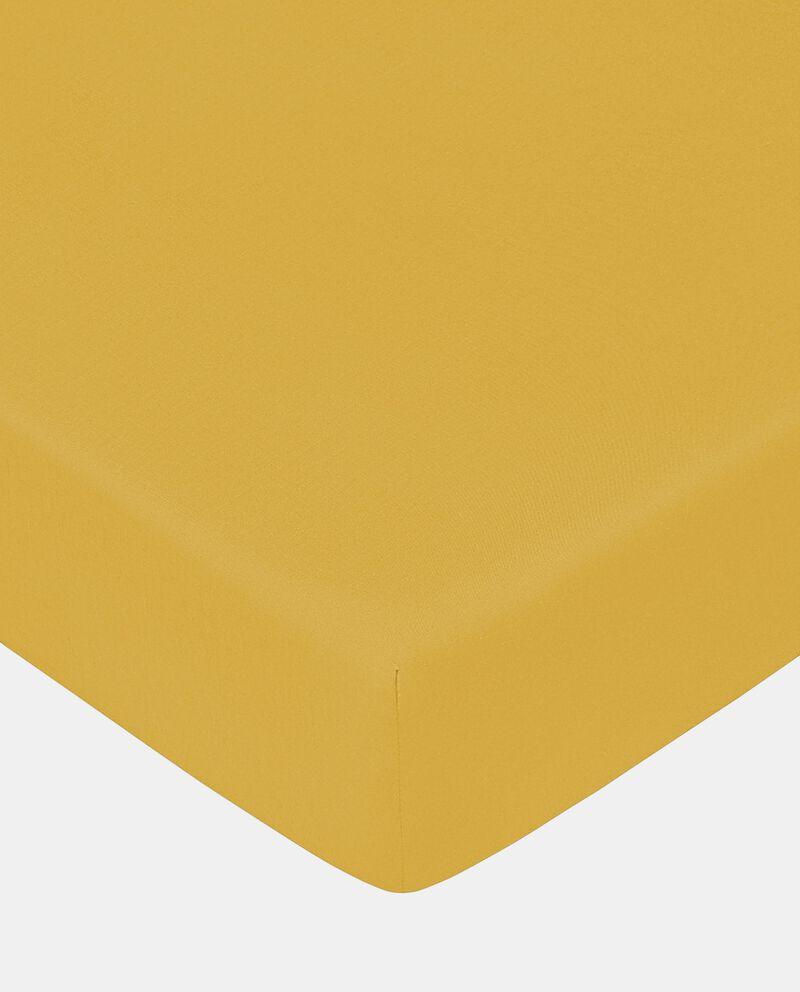 Lenzuolo con angoli in cotone tinta unita
