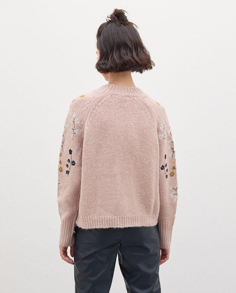 Maglia tricot con ricami floreali donna single tile 1