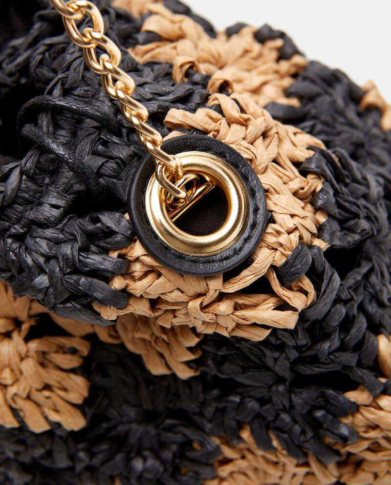 Borsa crochet con catena in metallo donna