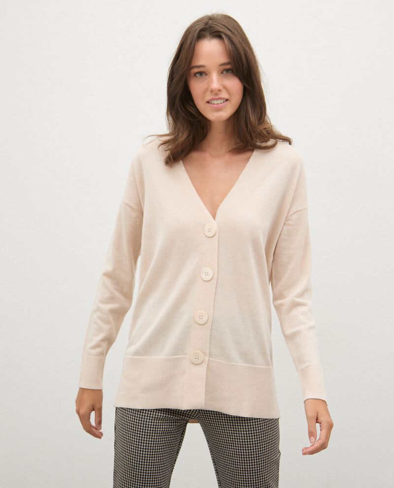 Cardigan tricot in lana con bottoni donnadouble bordered 0