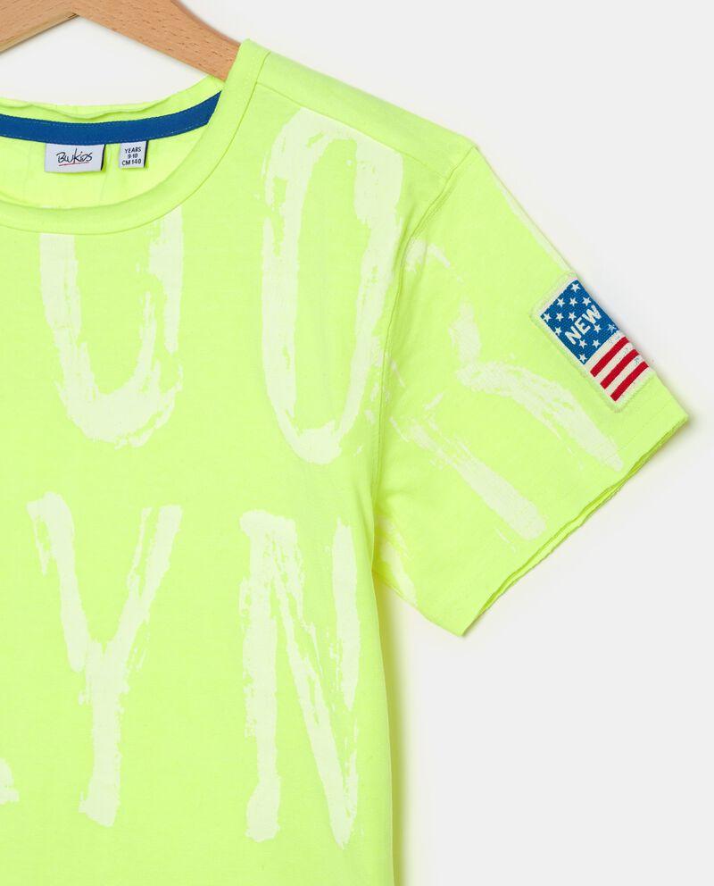 T-shirt con lettere ragazzo single tile 1