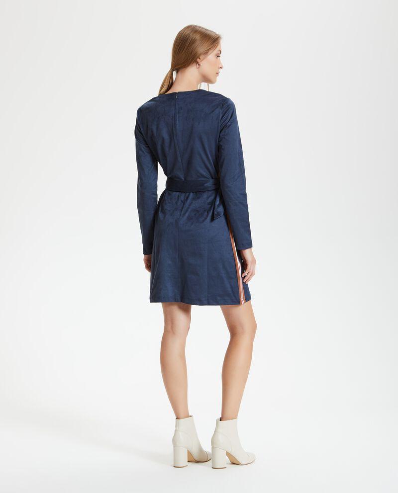 Vestito effetto camoscio donna