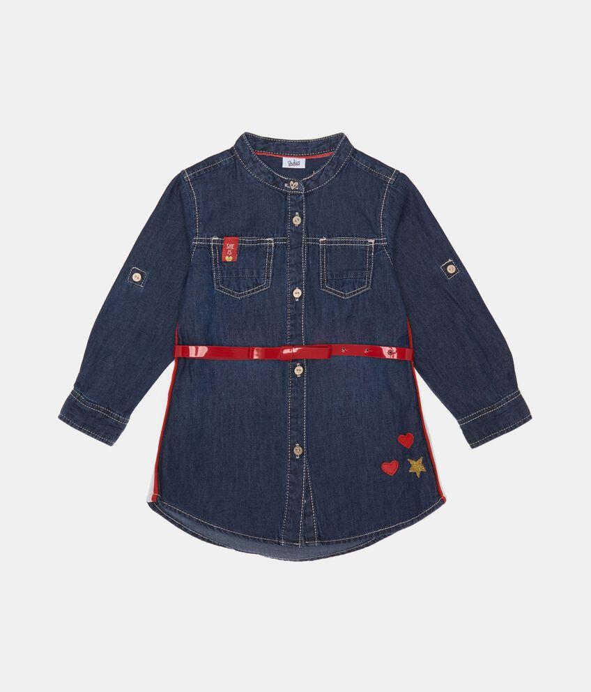 Camicetta di jeans con patch cuore