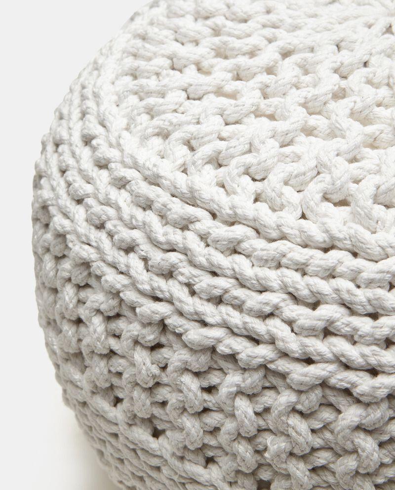 Pouf crochet in cotone single tile 1