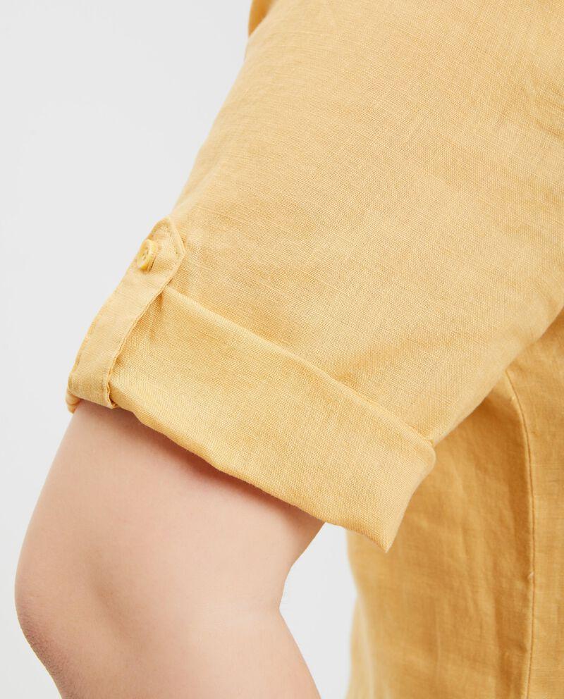 Camicia con taschini a maniche corte Curvy donna