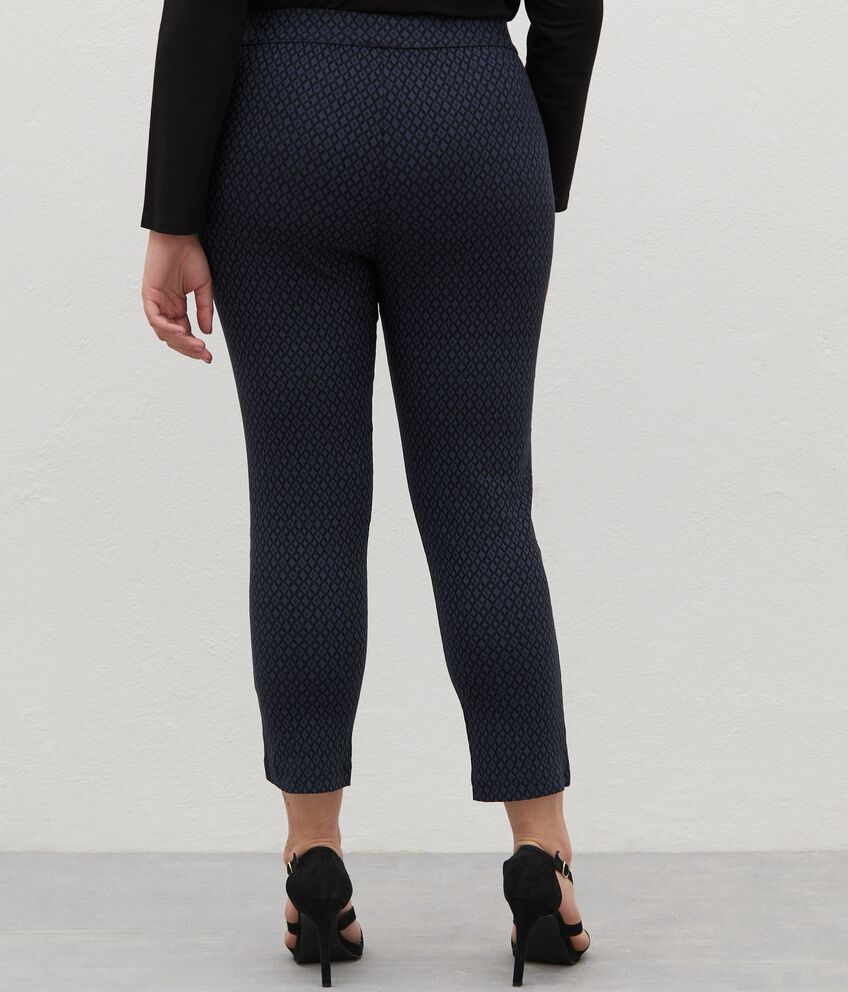 Pantaloni in viscosa jacquard Curvy donna double 2