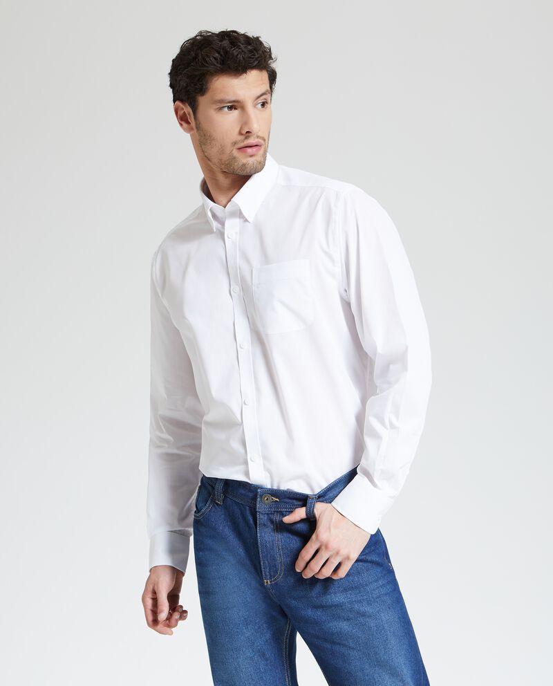 Camicia in tinta unita elegante uomo
