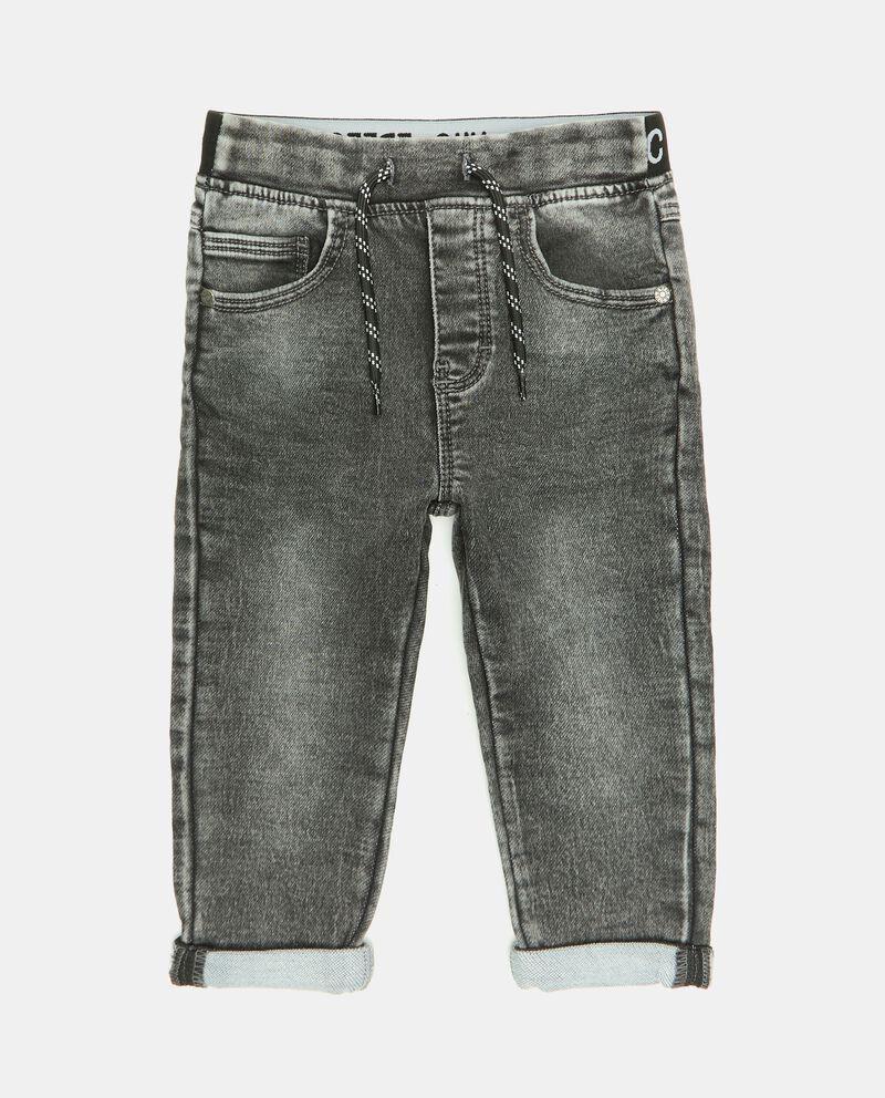 Pantaloni denim con elastico parlato neonatodouble bordered 0