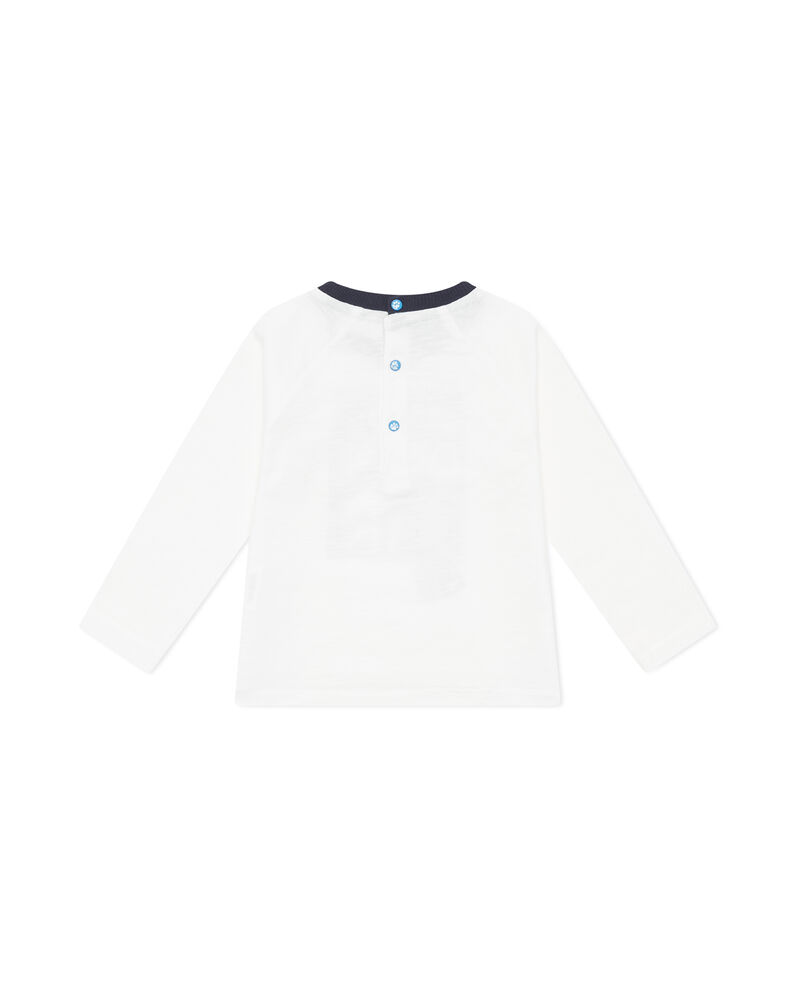 T-shirt puro cotone scollo a contrasto