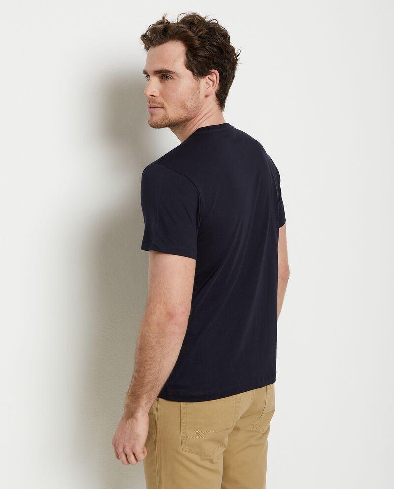 T-shirt stampata di puro cotone uomo