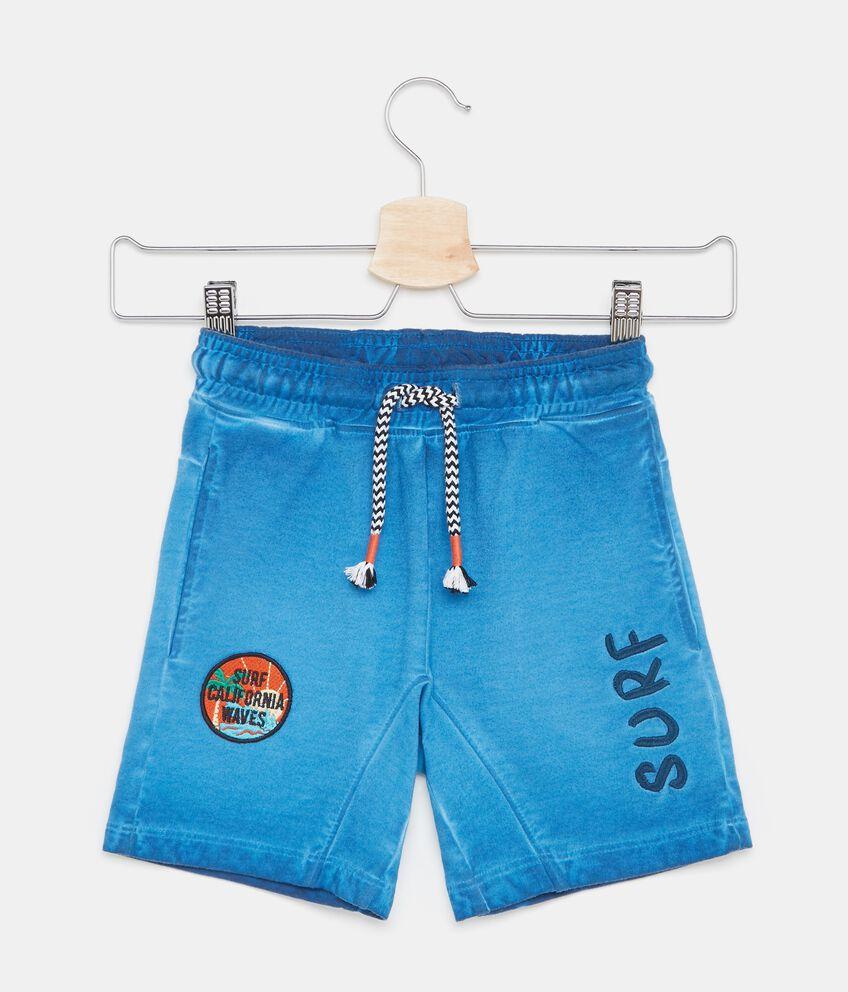Shorts in puro cotone effetto sbiadito bambino