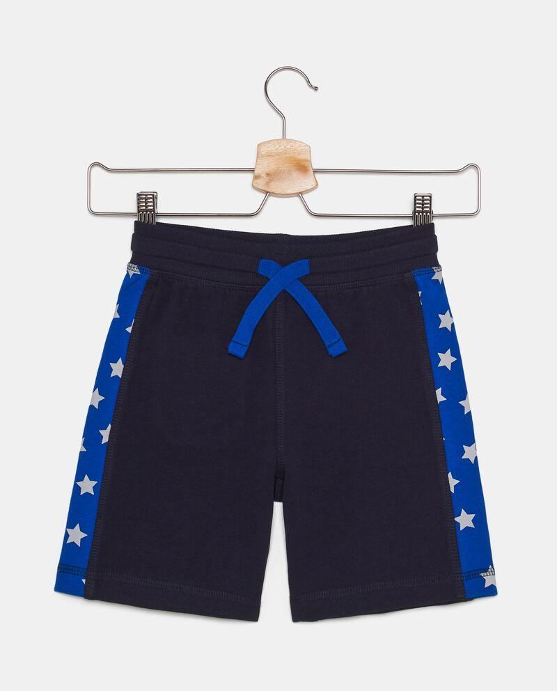 Shorts in puro cotone french terry con inserti laterali bambino